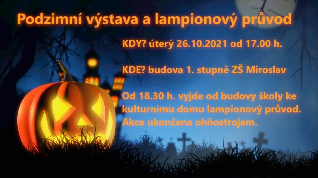 Pozvánka Podzimní výstava a lampionový průvod